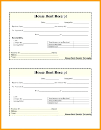 House Rent Receipt Format Room Bill Sample Hotel