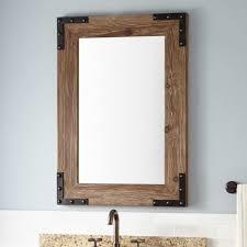 framed bathroom mirrors signature hardware regarding wooden frame mirror decor 18
