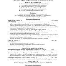 Cover Letter Resume Hospitality Tomyumtumweb Com