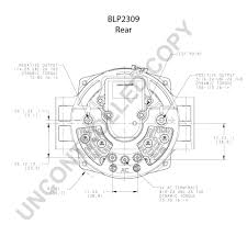 blp2309 alternator product details prestolite leece neville blp2309 rear dim drawing