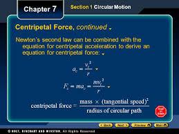 9 centripetal force continued