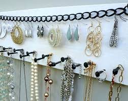 wall necklace organizer hanging ng jewelry best ikea ideas on holder ide