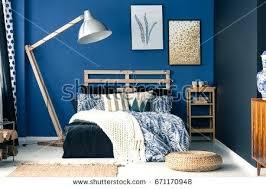dark blue bedroom walls. Blue Wall Bedroom Stylish Interior With Dark Colors Walls