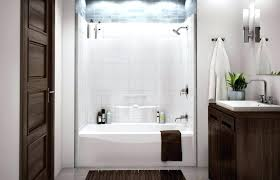 1 piece tub shower combo one piece tub and shower surround bathroom tub shower combo with 1 piece