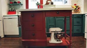 DIY Kitchen Island from Thrifted Desk