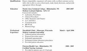 Resume Format Nursing Job Cna Resume Template Free Entry Level Cna