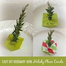 Holiday Placecards Easy Diy Holiday Dinner Place Cards Using Rosemary Twigs
