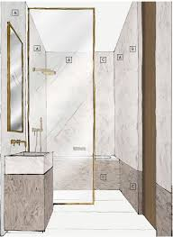 above corian shower wall render showcasing corian solid surface limestone prima and corian solid surface smokedrift prima