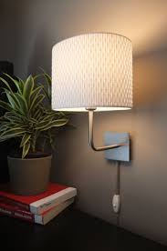 cool wall lighting. Cool Wall Lamps For Bedroom Elegantly Simple White Drum Shades Lighting 3