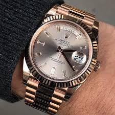25 best ideas about rolex day date mens watches friday day date 40 amazingly beautiful sundust dial ref 228235