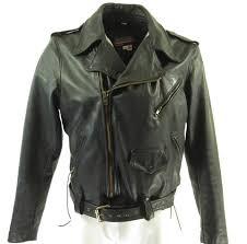 brooks 80s leather biker jacket h93y 1