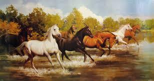 wild horses paintings