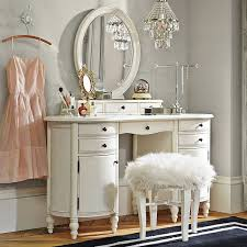 vanity table with mirror and bench makeup vanity for small bedroom off white makeup vanity