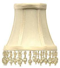 chandelier shades clip on. Beaded Chandelier Shades Shantung, A Man-made Silk In Cream Clip On