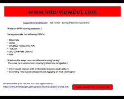 Spring What Are The Orm Supported By Spring Interviewdotcom Youtube
