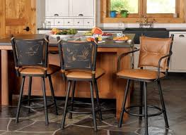 33 vibrant ideas rustic leather bar stools metal with backs for kitchen island image of cherry and reclaimed