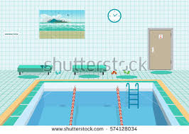 Public Swimming Pool Inside Blue Water Stock Vector 2018 574128034