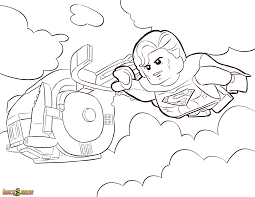 If i would be a kid i would liked it too. Lego Superman Coloring Page Coloring Home