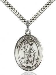 pewter guardian angel pendant