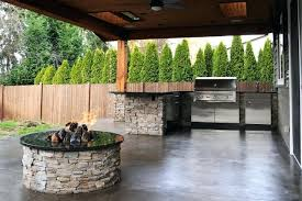 Covered patio with fire pit Stamped Concrete Covered Patio Fire Pit Craftsman Pspindiaco Covered Patio Fire Pit Under Pergola Backyard Pspindiaco
