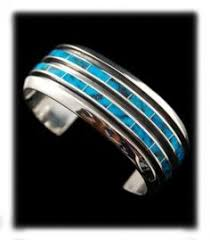 modern inlay turquoise bracelet by the famous native american artist phil loretto kingman turquoise turquoise