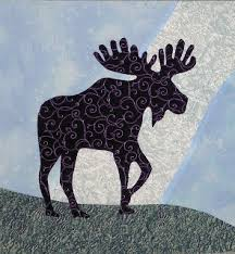 Best 25+ Moose quilt ideas on Pinterest | Forest crib bedding ... & Alaskan Moose is such a direct, simple design with lots of fantastic free  form stitching Adamdwight.com