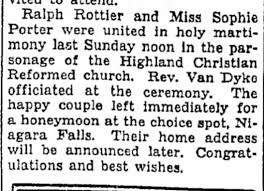 Sophie Porter and Ralph Rottier wed - Newspapers.com