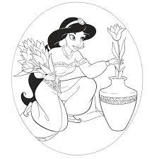 Disegno Di Principessa Jasmine Aladdin Da Colorare Per Bambini