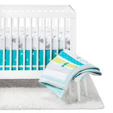 crib bedding set adventure awaits 4pc cloud island blue theville com baby babies kids motherhood