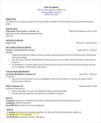 Resume Format For Students Pdf Elegant College Student Resume 7 Free