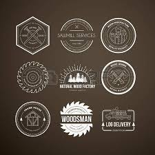woodworking tools logo. set of vintage carpentry logotypes made in vector. wood work and manufacture label templates. woodworking tools logo