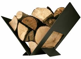 fireplace wood holder inside fireplace