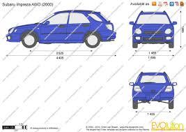 The-Blueprints.com - Vector Drawing - Subaru Impreza Wagon AWD