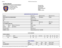 Fort Worth Incident Report Magdalene Project Org