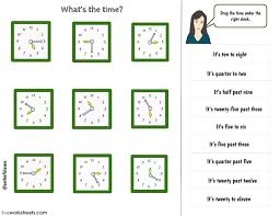 What's the time? - Interactive worksheet