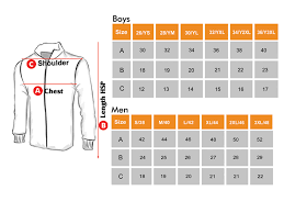 Cricket Jersey Size Chart Perform A Unit Of Vijaya Sports Wear Track Wear Sports