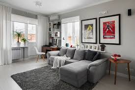 living room amusing grey couch living room white floor grey painted wall pictures on the