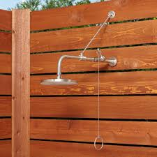 stainless steel pull chain outdoor shower