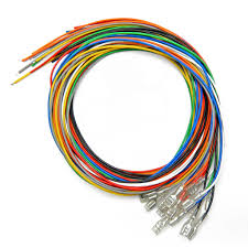 16pc 22 awg wire with 187 quick disconnect Aerospace Wire Harness Junction City Wire Harness #19