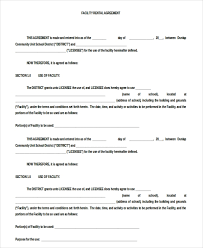Lease Agreement Format 13 Blank Rental Agreement Templates Free Sample Example