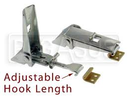 toggle hook latch. adjustable toggle latch with strike plate hook l