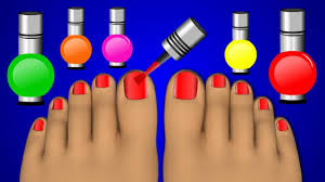 Learn Colors with Nail Art For kids, Learning Colours to Kids ...