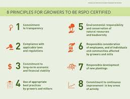 eight rspo principles and criteria what does rspo certified sustainable palm oil