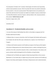 america pre wwii essay three factors that influenced franklin 2 pages amendment 25 presidential disability and succession