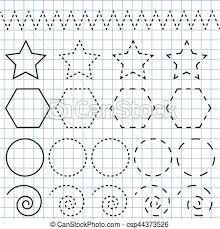 Penmanship Practice Sheet Handwriting Practice Sheet Educational Children Game Printable Worksheet Drawing Shapes