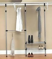 metal closet organizer kit rack how to hang racks