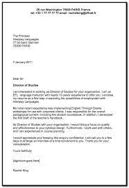Sample Cover Letter For English Language Teacher Cover Letter