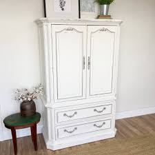 white wood wardrobe armoire shabby chic bedroom. White Armoire \u2013 Shabby Chic Furniture Wood Wardrobe Bedroom M