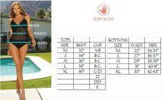 Body Glove Size Chart Pinterest