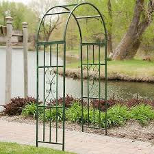 garden arch iron arched arbor trellis